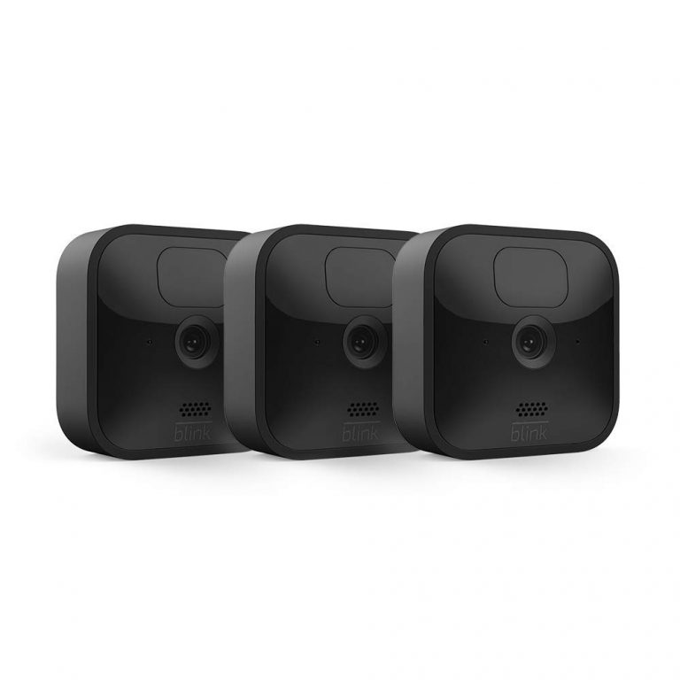 Blink Outdoor – wireless, weather-resistant HD security camera, two-year battery life, motion detection, set up in minutes – 3 camera kit